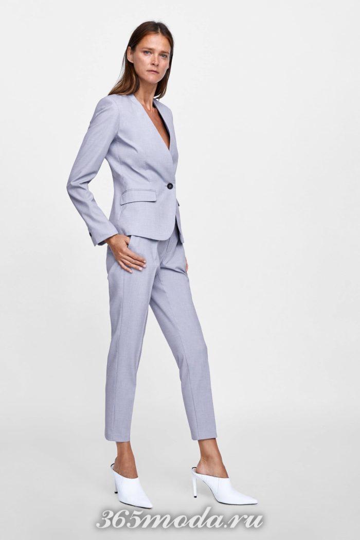 женские брюки осень-зима 2019-2020: серые