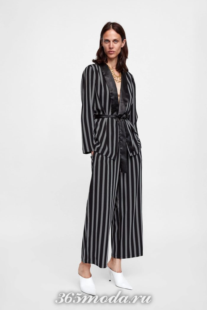 женские брюки осень-зима 2019-2020: полосатые