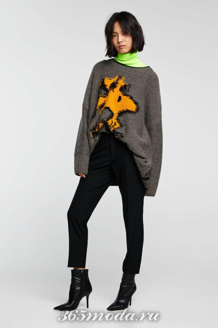 женские брюки осень-зима 2019-2020: черные