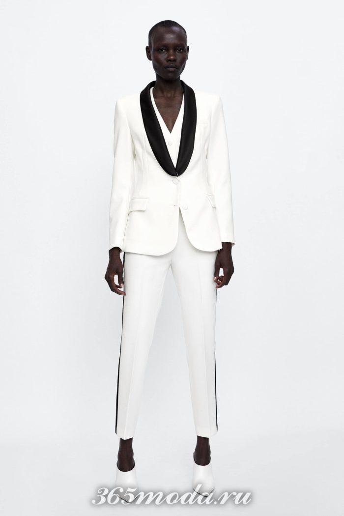женские брюки осень-зима 2019-2020: белые