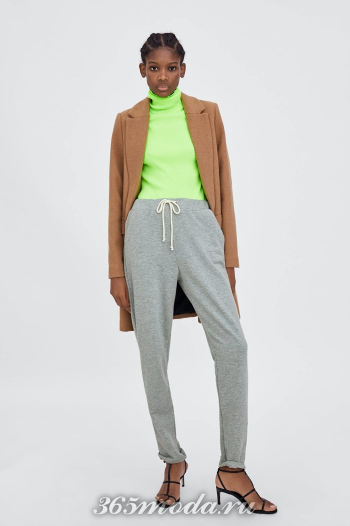 модные женские брюки осень-зима 2019-2020: серые