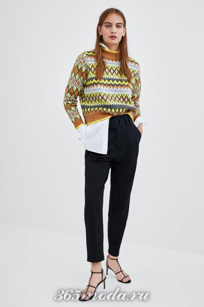 модные женские брюки осень-зима 2019-2020: черные