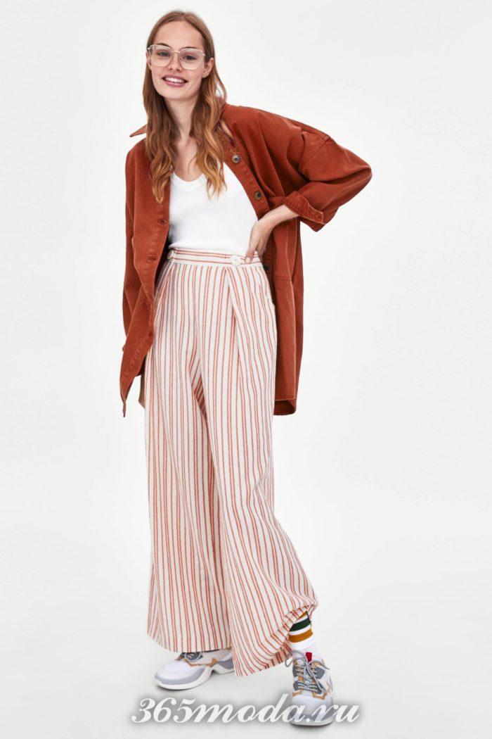 модные женские брюки осень-зима 2019-2020: в полоску
