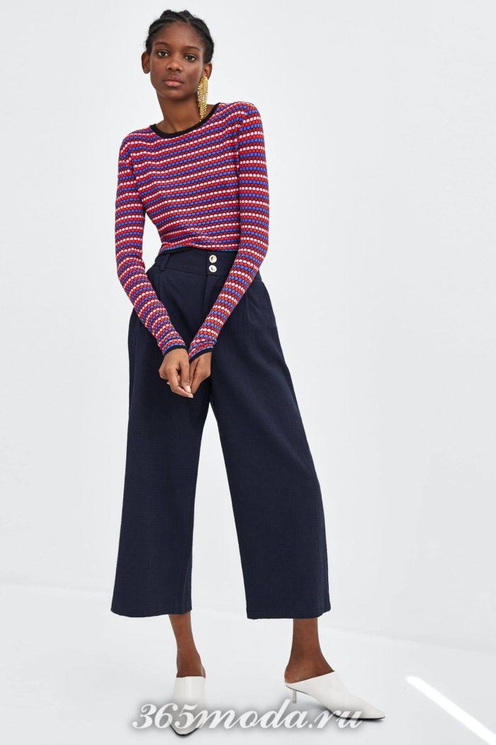 модные женские брюки осень-зима 2019-2020: синие