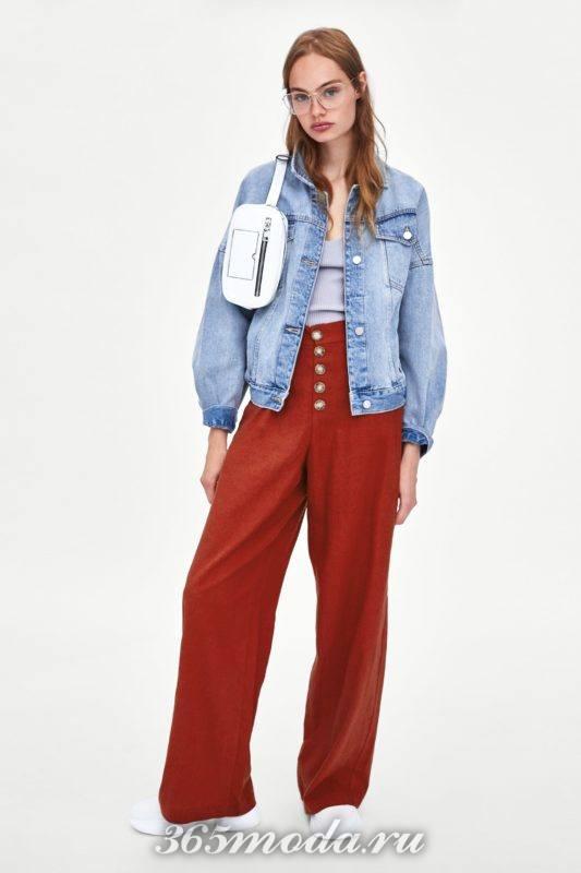Женские брюки красные