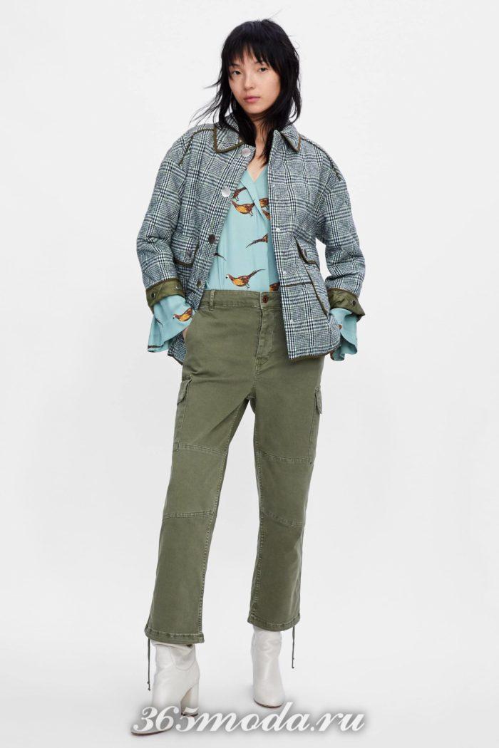 Женские брюки на осень и зиму серые