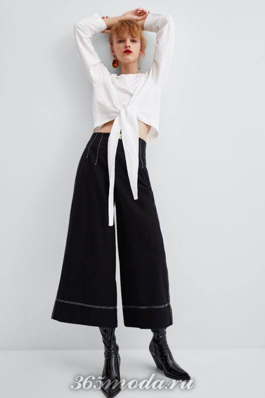 Расклешенные брюки черные