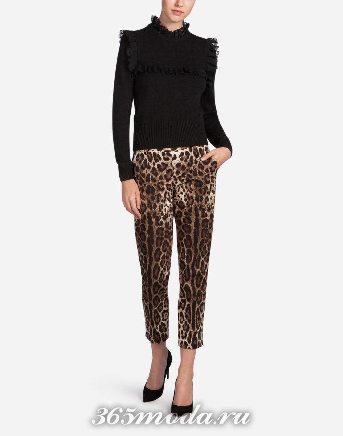 леопардовые укороченные