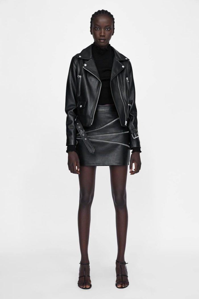 черная куртка косуха кожаная