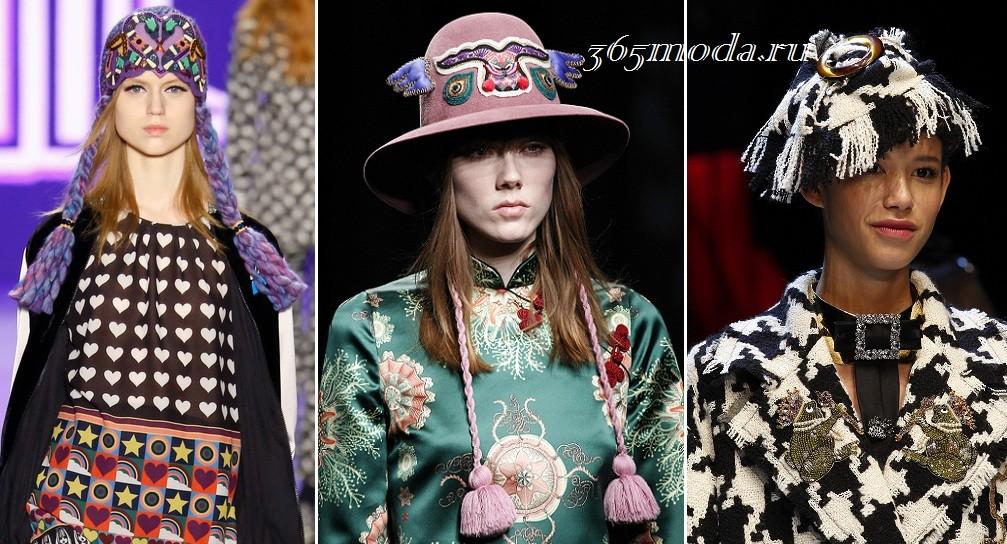 Модели модных шляпок