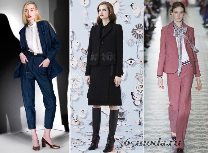 женские деловые костюмы 2019-2020