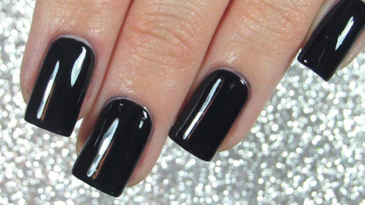 дизайн ногтей гель-лаком осень-зима: Темный