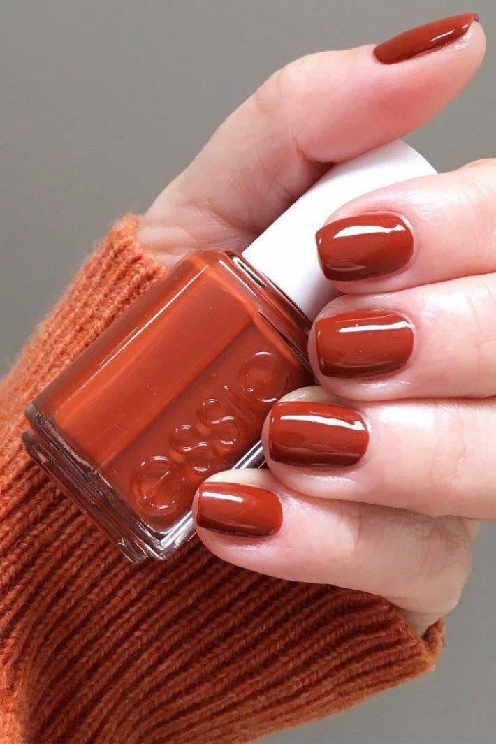 дизайн ногтей гель-лаком на осень