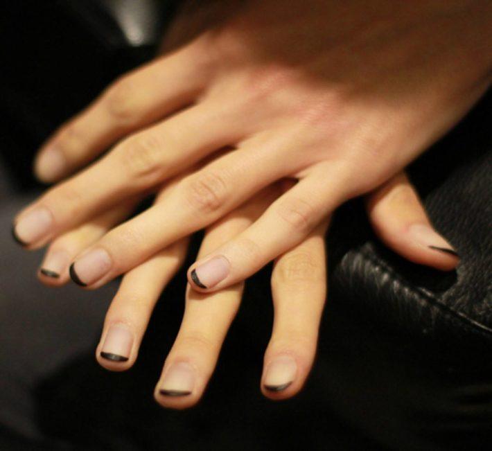 дизайн ногтей гель-лаком осень-зима 2019-2020: френч