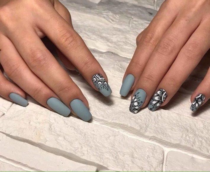 дизайн ногтей гель-лаком с рисунком