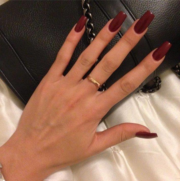 дизайн ногтей гель-лаком осень-зима 2019-2020: Темный