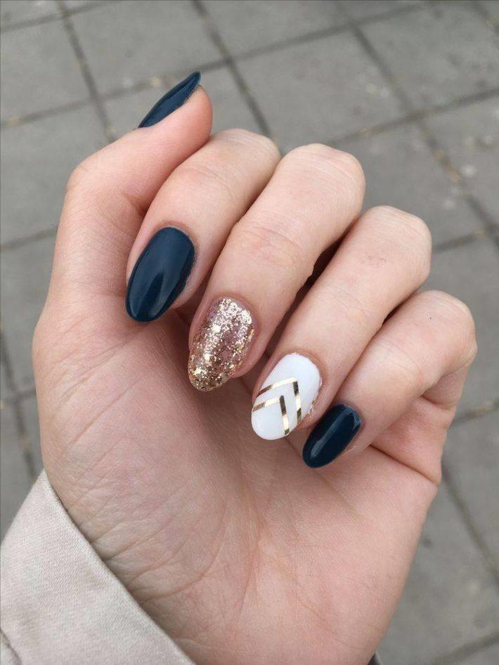 цветной дизайн ногтей шеллак
