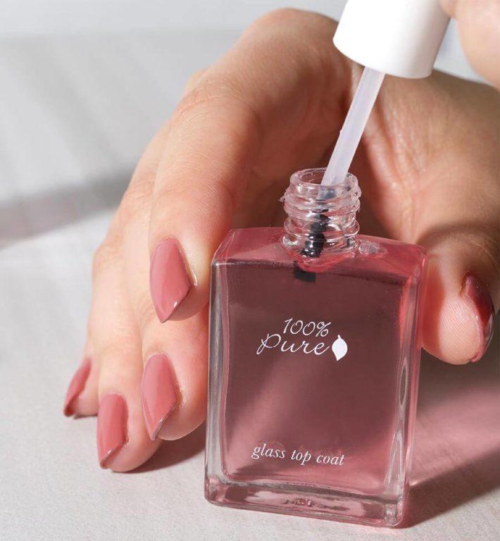 розовый дизайн ногтей шеллак