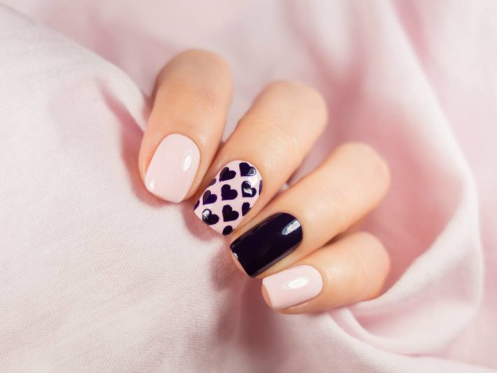 дизайн ногтей шеллак на осень и зиму