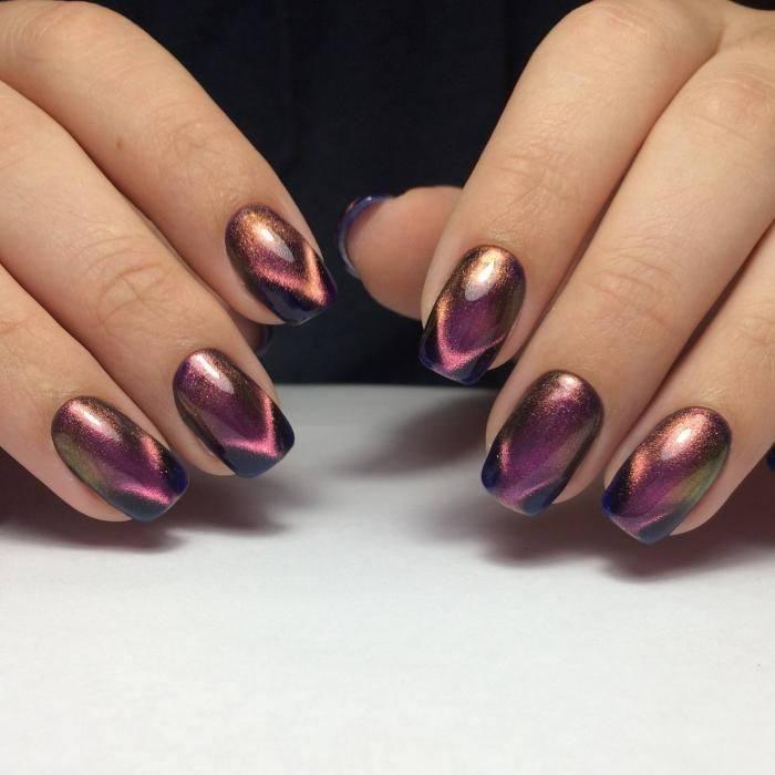 дизайн ногтей шеллаком на осень и зиму