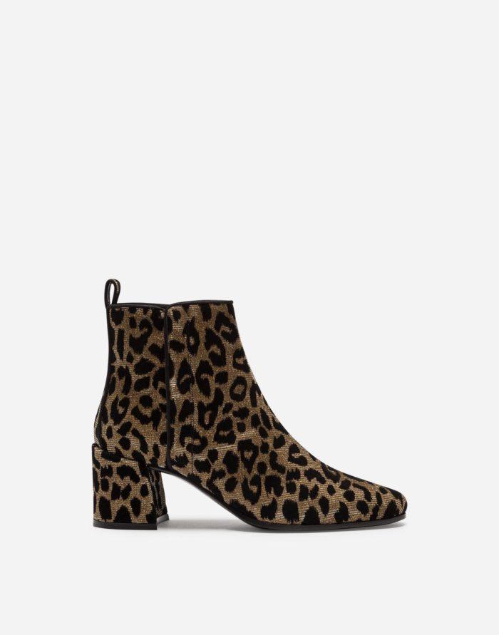 сапоги осень-зима 2019-2020: леопардовые высокий каблук