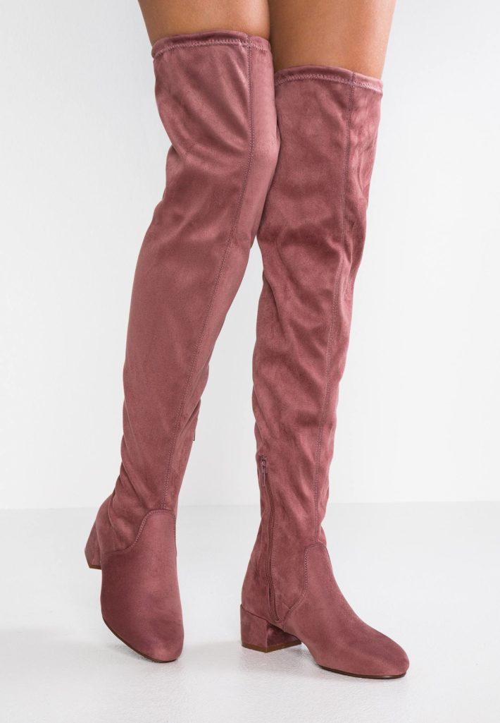 Ботфорты розовые