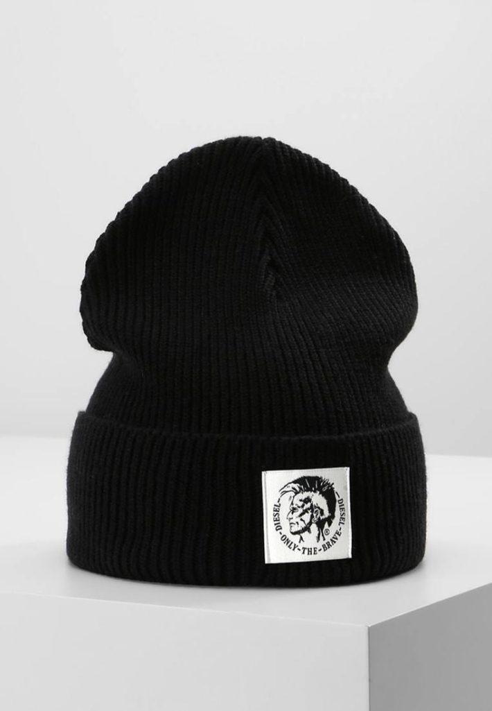 Женская шапка-бини черная