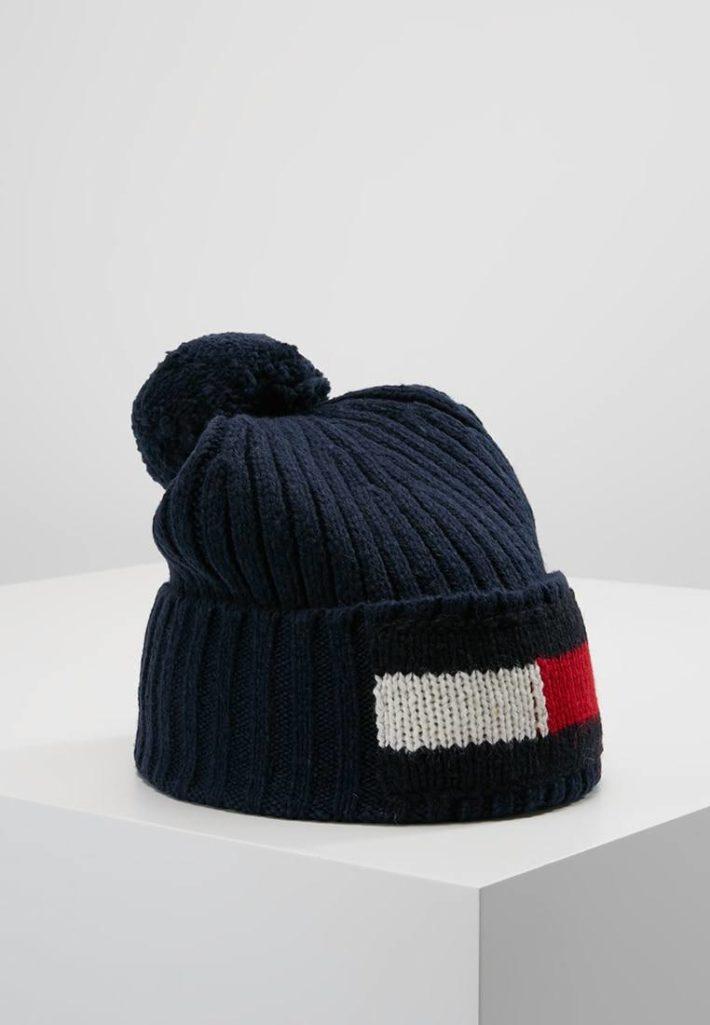 Женская спортивная шапка синяя