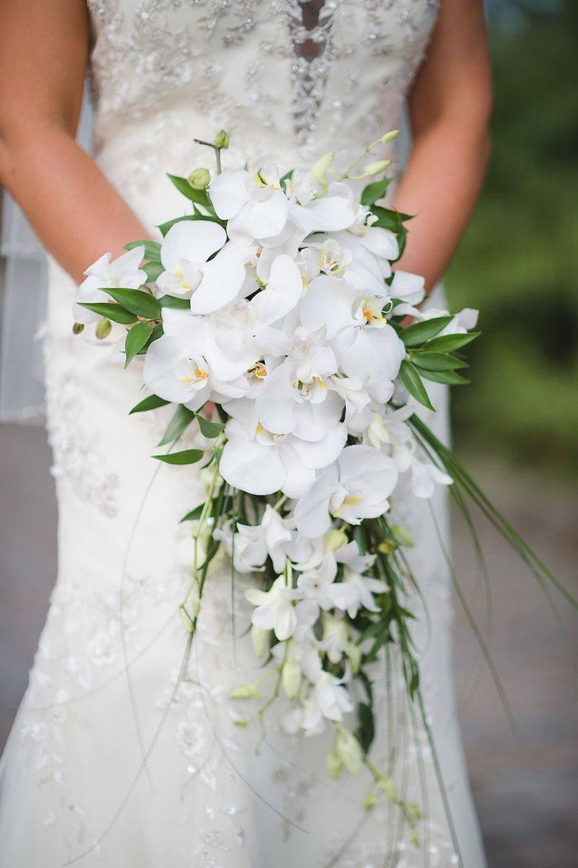 Букет из орхидей на свадьбу фото, цветы