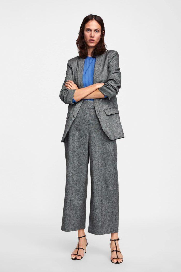 серый брюки кюлоты