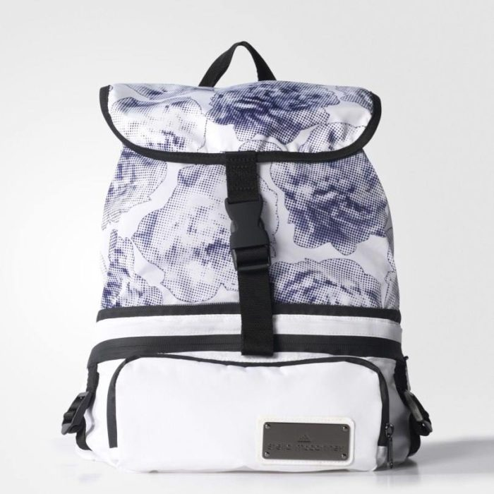 рюкзак женский принт цветы синие