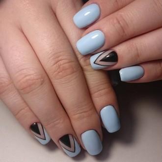 Дизайн ногтей френч шеллаком