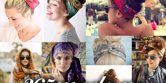 Как красиво завязывать платок на голове