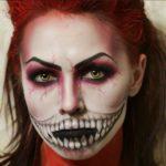 Модный макияж на Хэллоуин 2018 новинки идеи фото