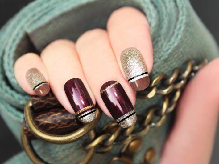 Стильный ногтей гель-лаком цветной