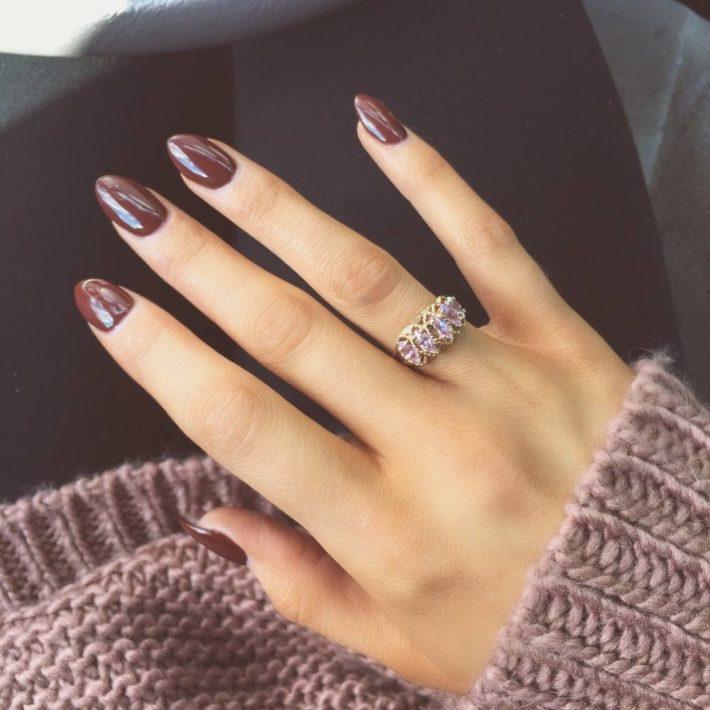 дизайн ногтей гель лаком фиолетовый