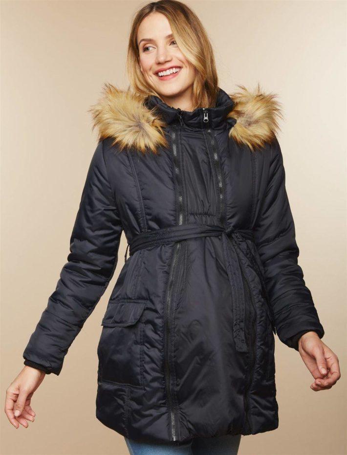 Куртка для беременной черная