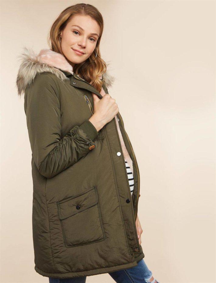 Куртка для беременной зеленая