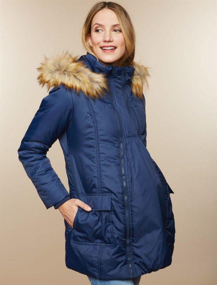 Куртка для беременной синяя