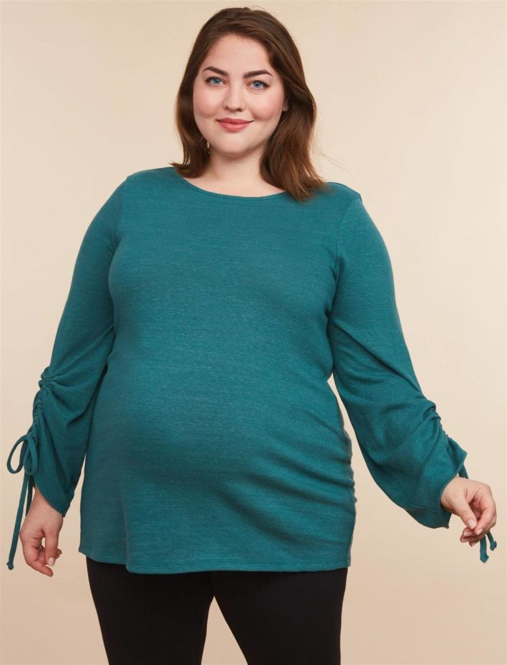 Кофта для беременной зеленая