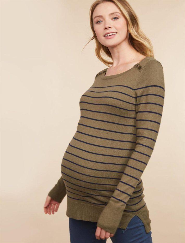 Кофта для беременной в полоску