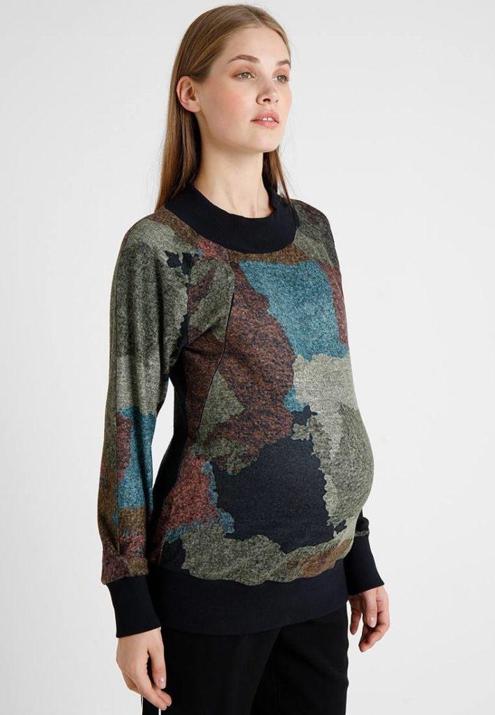Кофта для беременной цветная