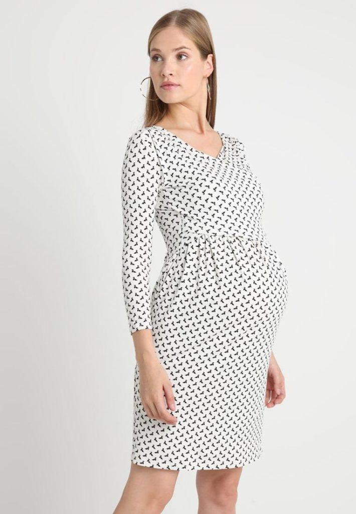 Платье для беременной белое
