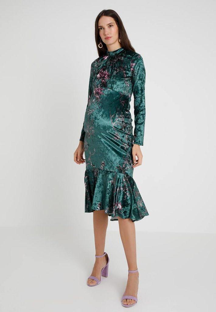 Платье для беременной зеленое