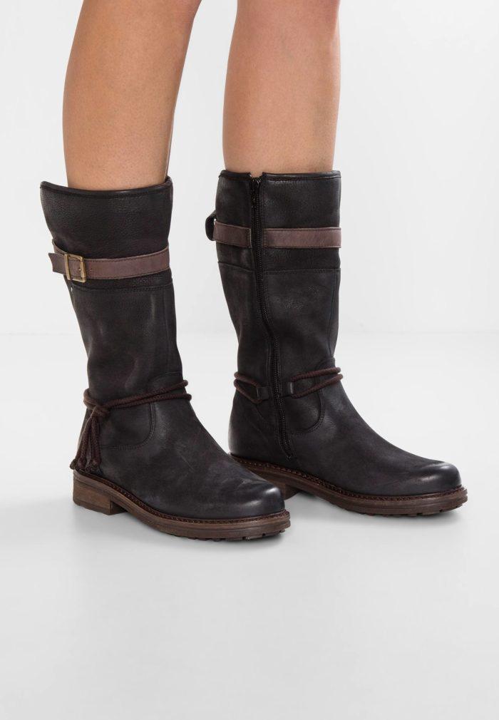 черная обувь на молнии низкий каблук