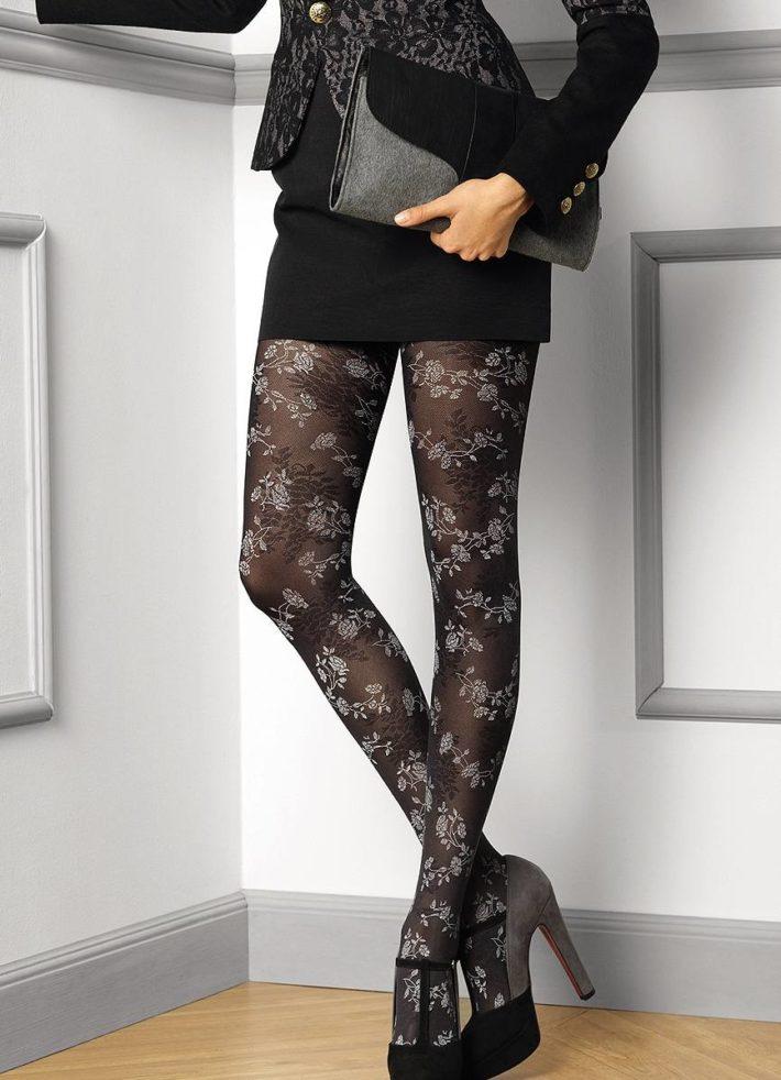 модные колготы осень-зима: ажурные