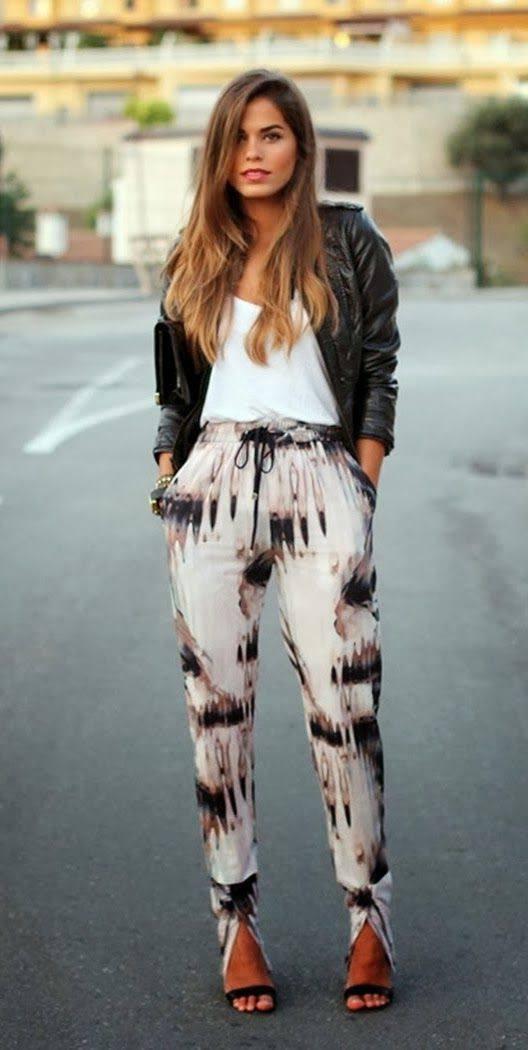 модные луки: со штанами на лето и весну