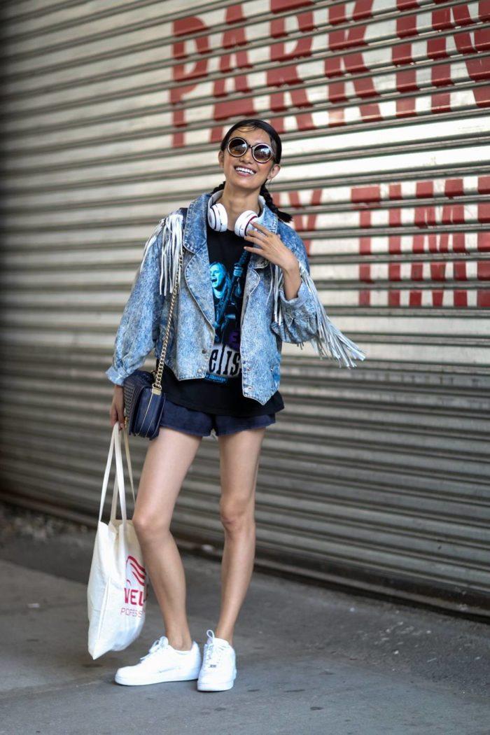 Стильный женский образ с шортами