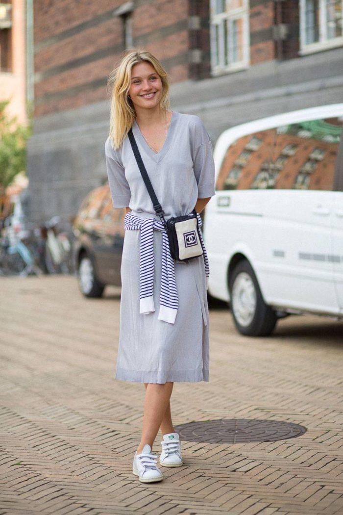 нежно-голубая юбка