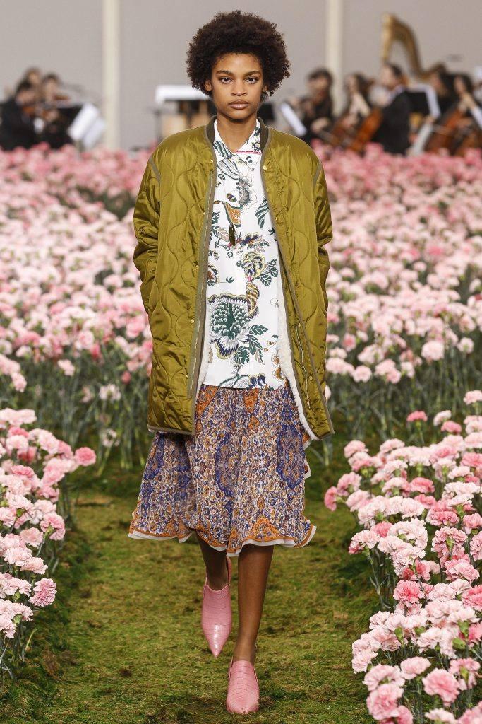 Принт для женской одежды цветы